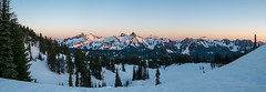 Tatoosh sunset (Laura Jacobsen) Tags: mountains mtrainier mtrainiernationalpark nationalparks rainier snow washington