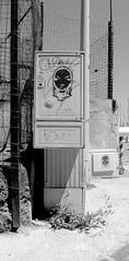 Two urban head (ZUHMHA) Tags: marseille france urban urbain port harbour line lignes courbes curve geometry géométrie letter lettre mot word sign texte text écriture monochrome grille grillage fence barrière