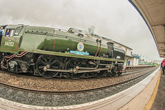 Lord Dowding (8mm & Other Stuff) Tags: 8mm steam engine passing through flint fisheye canon 40d