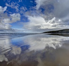 Permanenetly lonely (pauldunn52) Tags: southerndown beach glamorgan heritage coast wales dunraven cliffs reflections
