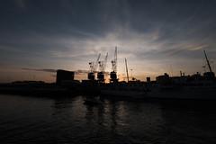 kranerpå Filipstadkaia (jonarnefoss2013) Tags: fujifilmxt2 xt2 norway sunset solnedgang oslo