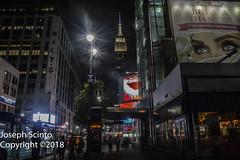 Long Island Rail Road Building (ezguy1) Tags: city nyc newyork newyorkcity empirestatebuilding empire state building night longexposure nys newyorkstate