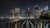 Manhattan Skyline at Night (GeraldGrote) Tags: brooklyn night usa manhattan newyork groyne skyline city architecture newyorkcity us