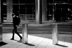 Monochrome Man (tony.ebikeme@rocketmail.com) Tags: blackandwhite monochrome london canarywharf man bw streetphotography urban street