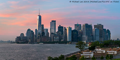 Governors Island Sunset (20180525-DSC07456-Pano-2) (Michael.Lee.Pics.NYC) Tags: newyork governorsisland sunset outlookhill lowermanhattan wtc onewtc worldtradecenter newyorkharbor architecture cityscape skyline park sony a7rm2 fe24105mmf4g