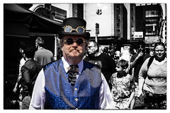 steam punk gent (Mark Rigler -) Tags: steam punk gent black white effect colour