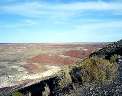 Painted Desert (Scott Holcomb) Tags: painteddesert pintadopoint arizona asahipentax6x7 supermultcoatedtakumar6x714575lens zenzabronica82mml1afilter cinestill800tfilm 120film mediumformat 6x7 epsonperfectionv600 photoshopdigitalization
