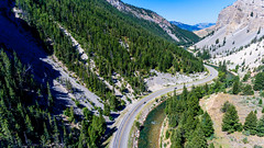 Blade Runner (Sky Noir) Tags: river blade runner mountain pass road valley drone dji wyoming wy western travel
