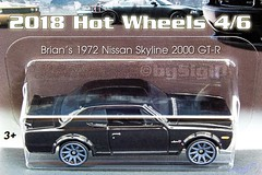 2018_Hotwheels_Fast_Furious_Nissan_Skyline_2000GTR (Sigi D) Tags: 2018 hotwheels hot wheels fast furious diecast moviecar sigid nissan skyline 2000gtr hakosuka kpgc10 fastfive five brian oconner
