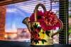 flower pot watering can in the window at work (johngpt) Tags: wateringcans window flowerpots appleiphone7plus flowers places atwork albuquerque newmexico unitedstates us sliderssunday hss
