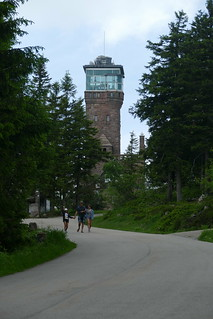 in front of the observation tower