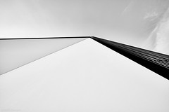 Karlsruhe Musikhochschule b&w 2 (rainerneumann831) Tags: karlsruhe schlossgottesaue architektur bw blackwhite blackandwhite ©rainerneumann linien abstrakt minimalistisch