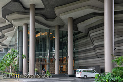 Singapore - June 10 2018: Park Royal hotel in Singapore,  called Hotel In A garden. Entrance view (per.svensson@mac.com) Tags: unusual asia landmark city cityscape modern royal garden tourism accommodation skyscraper service expensive travel hotel luxury spa architecture park apartment business tourist singapore holidayevent vacations