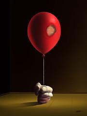 O Balão Suspenso. (Marcel Caram) Tags: digitalart digiart digitalartwork surrealism surrealismo salvadordali surreal magritte maxernst marcelcaram dechirico balloon balão photoshopart decoração decorativeposters arquithecture fineart fineartprinted fineprint artedigital artforsale wallart
