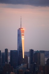 Freedom Tower (-SOLO--) Tags: skyline nyc newyorkcity freedomtower building sunset flickrfriday solo single