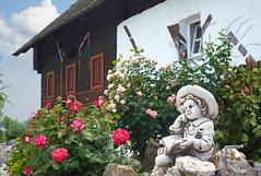 Blick in Nachbar's Rosengarten (Mariandl48) Tags: rosen haus figur sommersgut wenigzell steiermark austria