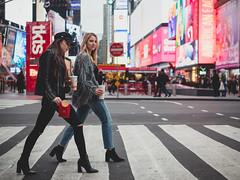 It's Fry-Day! (Vincent F Tsai) Tags: portrait fashion editorial newyorkcity timessquare nyc newyork city street style lights walk girls model urban manhattan leicadgsummilux25mmf14 panasonic lumixgx8 mcdonalds fries fast food