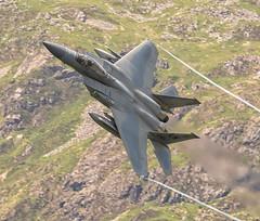 USAF F-15C (gmorriswk) Tags: lakenheath jetplane jet lowlevel machloop f15c f15 usaf reapers reaper grim talyllyn wales unitedkingdom gb