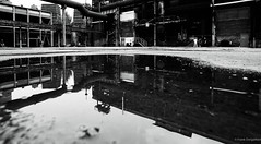 Monochrome reflection (frankdorgathen) Tags: landschaftsparkduisburg duisburg ruhrgebiet ruhrpott industry industrie schwarzweis schwarzweiss blackandwhite monochrome spiegelung reflection industrialcomplex