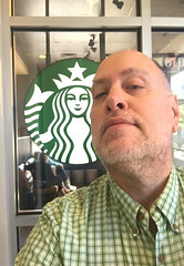 Day 2337: Day 147: At the Bux (knoopie) Tags: 2018 may iphone picturemail doug knoop knoopie me selfportrait 365days 365daysyear7 year7 365more day2337 day147 starbucks coffee
