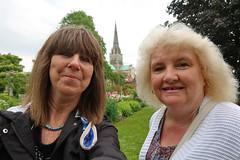 Chichester Selfie (Jainbow) Tags: chichester cathedral chichestercathedral bishopspalacegardens jainbow sarah