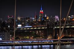 Memorial Day Weekend (jed52400) Tags: empirestatebuilding newyork manhattan brooklynbridge manhattanbridge buildings skyscrapers citylights ambientlights eastriver nightphotography city urban