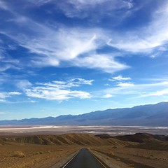 Death Valley scenery (PeterCH51) Tags: deathvalley deathvalleynationalpark dvnp california usa landscape scenery desert sky square squareformat iphone peterch51 america