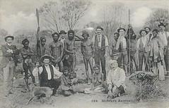 Australian aborigines with white men - very early 1900s (Aussie~mobs) Tags: aborigines australia vintage natives indigenous messageriesmaritimes postcard aussiemobs