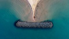 No smile (ElmerstarK) Tags: bleu blue drone contrast eau sable nature water sand see djiphatom4 fly outdoor uav mer vias occitanie france fr