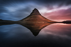 Sidelit (KasparsDz) Tags: iceland landscape kirkjufell reflection clouds sunset dramatic moody snæfellsnes long exposure dzenis photo nature travel