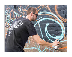 Lifer, Meeting of Styles 2018, East London, England. (Joseph O'Malley64) Tags: lifer lifer4d graffitiartist urbanart publicart freeart graffiti eastlondon eastend london england uk britain british greatbritain art artist artistry artwork wall walls wallart brickwork bricksmortar cement pointing steelupright meetingofstyles2018 urban aerosol cans spray paint fujix fujix100t accuracyprecision
