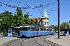 P-Zug 2006/3039 steht auf dem Weg zum Stachus am Stiglmaierplatz (Bild: Klaus Werner) (Frederik Buchleitner) Tags: 2006 3039 linie22 munich münchen pwagen stiglmaierplatz strasenbahn streetcar tram trambahn