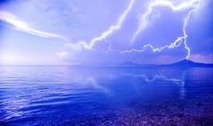 Let there be LIGHT ! (GEORGE TSIMTSIMIS) Tags: sea lightning thunder sky blue black clouds lettherebelight sonyxa1ultra g3212 landscape patras greece androidphoto storm thunderstruck landscapes outdoorphotography palecolours klokova varasova acarnania thunderstorm deepblue seashore