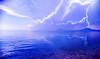 Let there be LIGHT ! (gtsimis) Tags: sea lightning thunder sky blue black clouds lettherebelight sonyxa1ultra g3212 landscape patras greece androidphoto storm thunderstruck