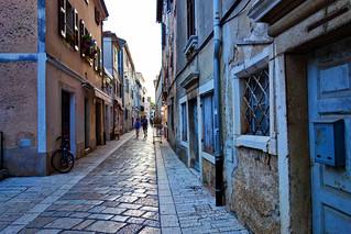 Poreč: city streets just before the 2018 summer tourist season