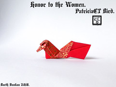 Honor to the Women PatriciaCT Bird - Barth Dunkan. (Magic Fingaz) Tags: barthdunkan bird burung chim oiseau origami origamibird pájaro pássaro ptak uccello vogel птица นก 鳥 鸟