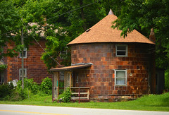round house (brown_theo) Tags: haydenville ohio round house roundhouse roadside odd oddity rural road brick ceramic 20th century architecture 1911 built