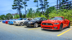 Ford Mustangs (kenmojr) Tags: car auto automobile vehicle transportation classic antique vintage halifax jasnow funeral novascotia claytonpark maritimes maritimeprovinces atlantic atlanticprovinces canada easterncanada carshow june 2018 ford mustang ponycars