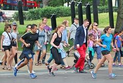 Hyde Park Corner Crossing (Waterford_Man) Tags: run runners running jog joggers jogging shorts people path camera candid street london