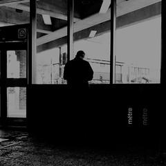 Absent... (woltarise) Tags: station métro diberville montréal stm attente absent vie dedansdehors 6h30am streetwise