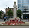 Manchester Cenotaph = St. Peter's Square (rossendale2016) Tags: pals regiments grenadiers horses all end massive injuries hospital grenades rifles guns bullets shells bombs raf children women woman men old young wreaths allies france belgium some europe country representing injured killed names inscriptions inscription near library central centre city renovated recently tramway trams square public pillar stone tall germany died troops navy airforce army sunday remembrance great first war world dead remembering poppies red day armistice sauare peters saint st cenotaph manchester