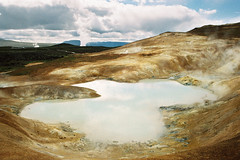 Iceland Adventures ! (Hëllø i'm Wild) Tags: analog film 35mm canonae1 iceland travel trip adventures hike outdoor nature icelandadventures leirhnjúkur solfataras kodakgold200