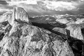Sunset At Half Dome In Yosemite National Park, California