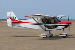 G-CFBY (QSY on-route) Tags: gcfby lancashire landing 2018 fly in knott end beach airfield 09062018