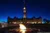 Parliament Building (umakantht) Tags: parliament parliamenthill ottawa ontario canada d800 nikon nikonpce nikonpce24mm tiltshift night longexposure fire sky blue architecture
