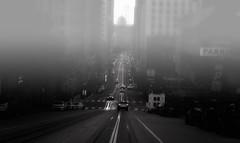 San Francisco evening (ROSS HONG KONG) Tags: mist fog sanfrancisco street streetphoto cars hills goldengatebridge bridge evening night black white bw blackandwhite leica monochrom monochrome noctilux 095 50mm noir blanc flickrsbest