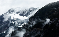 Only The Strong Will Survive (John Westrock) Tags: mountains nature rugged terrain snow clouds trees landscape snoqualmiepass washington pacificnorthwest canoneos5dmarkiii canonef100400mmf4556lisusm