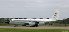 United States Air Force Boeing RC-135V Rivet Joint OF/64-14844, 38th Reconnaissance Sqn departing RAF Mildenhall/EGUN (Mosh70) Tags: rafmildenhall egun royalairforce raf gr4 tornado unitedstatesairforce unitedstatesairforceeurope mv22osprey rc135 rc135rivetjoint