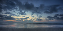 Sunrise on the Atlantic..... (Kevin Povenz Thanks for all the views and comments) Tags: 2018 june kevinpovenz northcarolina corolla atlantic atlanticocean beach sand water ocean sunrise sun earlymorning early morning canon7dmarkii sigma clouds blue reflection outside outdoors longexposure