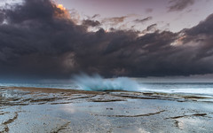 Splashy Stormy Seascape (Merrillie) Tags: daybreak theskillion waterscape rocky nature water terrigal nsw splash sea clouds newsouthwales rocks earlymorning morning landscape centralcoast ocean australia sunrise stormy coastal outdoors sky seascape dawn coast cloudy waves